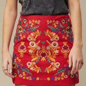 Altar'd Stale Mila Burgundy Skirt
